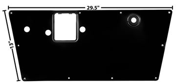 Picture of DOOR INNER PANEL LH 66-77 : 3719E BRONCO 66-77