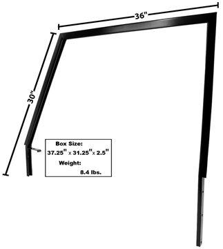 Picture of DOOR WINDOW FRAME LH 1966-68 : 3713 BRONCO 66-68
