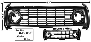 Picture of GRILLE 1966-68 PAINTED NO LOGO : 3725 BRONCO 66-68