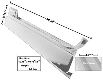 Picture of ROCKER PANEL RH/LH 66-77 : 3760WT BRONCO 66-77