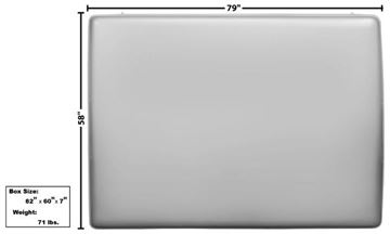 Picture of ROOF PANEL SKIN 1966-77 : 3752WT BRONCO 66-77