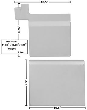 Picture of WHEELHOUSE FILL PLATES RH 67-77 : 3780AWT BRONCO 67-77