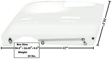 Picture of DOOR GLASS COMPLETE LH 70-74 : 1076V CAMARO 70-74