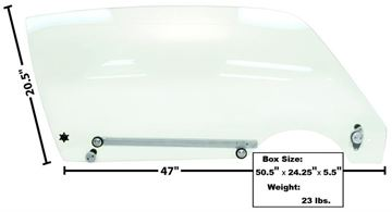 Picture of DOOR GLASS COMPLETE RH 70-74 : 1076U CAMARO 70-74