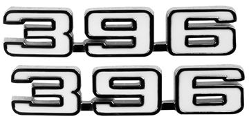Picture of EMBLEM FENDER EMBLEM 396 PAIR 69 : EM6760 CAMARO 69-69