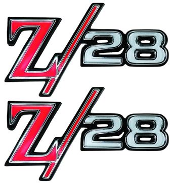 Picture of EMBLEM Z/28 FENDER EMBLEM PAIR 69 : EM6759 CAMARO 69-69