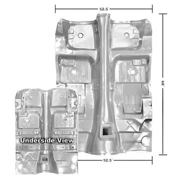 Picture of FLOOR PAN COMPLETE 70-73 W/BRACES : 1045ZWT CAMARO 70-73