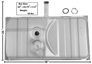 Picture of GAS TANK 75-77 : T13A CAMARO 75-77
