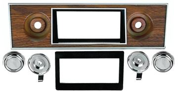 Picture of RADIO BEZEL & KNOB KIT 1967-68 : AM-1005 CAMARO 67-68