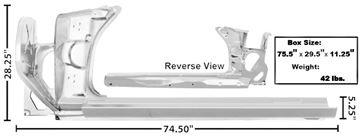 Picture of ROCKER PANEL COMPLETE LH 70-73 : 1067KBWT CAMARO 70-73