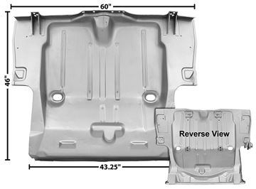 Picture of TRUNK FLOOR PAN 69 W/6 INNER : 1046CXWT CAMARO 69-69