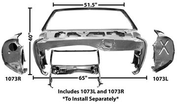 Picture of WINDSHIELD/COWL ASSEMBLY 1969 CV : 1073G CAMARO 69-69