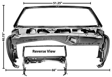 Picture of WINDSHIELD/COWL ASSEMBLY 68 CONVT. : 1073F CAMARO 68-68