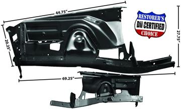 Picture of FENDER APRON COMPLETE RH 70-74 : 6062 CHALLENGER 70-74