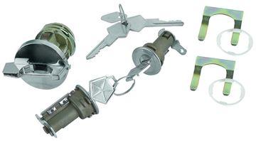 Picture of LOCK IGNITION & DOOR, ORIGINAL : CL-4882C CHALLENGER 70-71
