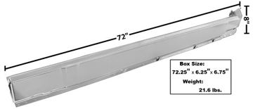 Picture of ROCKER PANEL RH 70-74 CHALLENGER : 6072WT CHALLENGER 70-74