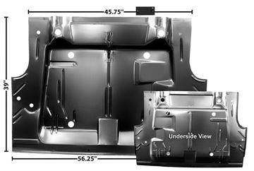 Picture of TRUNK FLOOR PANEL 70 CHALLENGER : 6082 CHALLENGER 70-74
