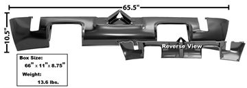 Picture of VALANCE REAR W/DUAL EXHAUST HOLE : 6084 CHALLENGER 70-74