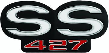 Picture of EMBLEM 66 GRILLE & 66-67 REAR PANEL : EM4312 CHEVELLE 66-67