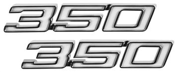 Picture of EMBLEM FENDER 350 PAIR 70-72 : EM4651 CHEVELLE 70-72