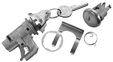 Picture of LOCK KIT GLOVEBOX & TRUNK ORIGINAL : 150A CHEVELLE 68-68