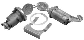 Picture of LOCK KIT TRUNK & GLOVEBOX ORIGINAL : 162A CHEVELLE 66-66