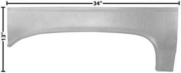 Picture of QUARTER LIP PATCH RH 64-65 : 1473A CHEVELLE 64-65