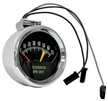 Picture of TACHOMETER 66 CHROME 5600 REDLINE : 1400R CHEVELLE 66-66