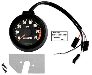 Picture of TACHOMETER 67 BLACK 6000 REDLINE : 1400U CHEVELLE 67-67