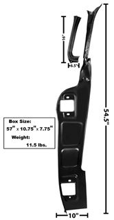 Picture of A PILLAR FRAME RH 55-59 : 1105XA CHEVY PICKUP 55-59