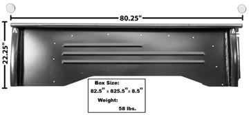 Picture of BED PANEL LH 55-59 SHORT BED : 1119K CHEVY PICKUP 55-59