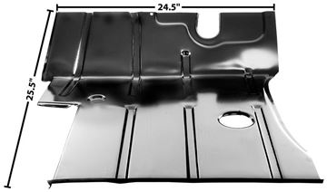 Picture of CAB FLOOR LH 55-59 : 1107CB CHEVY PICKUP 55-59