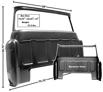 Picture of CAB REAR OUTER PANEL W/BIG WINDOW : 1107D CHEVY PICKUP 55-59