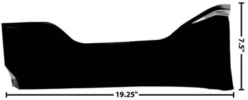 Picture of COWL INNER KICK PLATE LH 55-59 : 1102BY CHEVY PICKUP 55-59