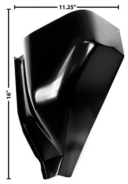 Picture of COWL VENT LOWER RH 55-59 : 1102CC CHEVY PICKUP 55-59