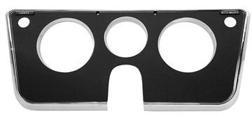 Picture of DASH BEZEL 69-72 3 HOLE BLACK/CHROM : 1146E CHEVY PICKUP 69-72