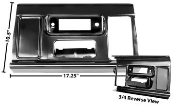 Picture of DASH RADIO PANEL 64-66 : 1114Q CHEVY PICKUP 64-66
