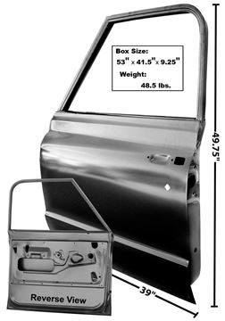 Picture of DOOR SHELL LH 72 : 1103B CHEVY PICKUP 72-72