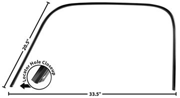 Picture of DRIP RAIL/DOOR CROWN TRIM LH 47-54 : 1102C CHEVY PICKUP 47-54