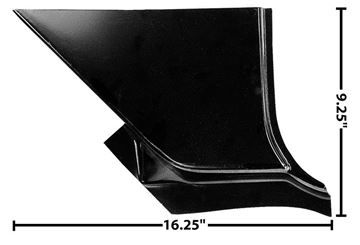 Picture of FOOT WELL PANEL RH 67-72 : 1114Y CHEVY PICKUP 67-72