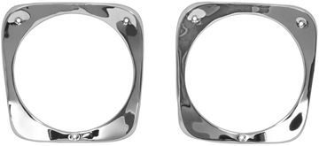 Picture of HEAD LAMP BEZEL 64-66 PAIR CHROME : 1115F CHEVY PICKUP 64-66