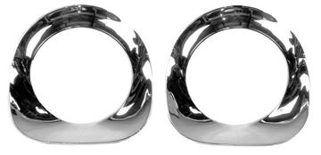 Picture of HEADLAMP BEZEL CHROME PAIR 55-57 : 1115R CHEVY PICKUP 55-57
