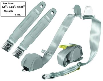 Picture of SEAT BELT 3-POINT MOUNT  GRAY : SB4-GRAY CHEVY PICKUP 47-74