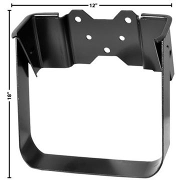 Picture of WINDSHIELD WASHER BOTTLE BRACKET : 1103VB CHEVY PICKUP 67-72