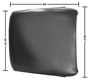 Picture of ROOF PANEL 68-72 COUPE : 1418 CUTLASS 68-72