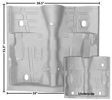 Picture of FLOOR PAN COMPLETE 68-72 : 1462WT CUTLASS 68-72