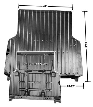 Picture of BED PANEL COMPLETE 68-72 W/ROLL PAN : 1428L EL CAMINO 68-72