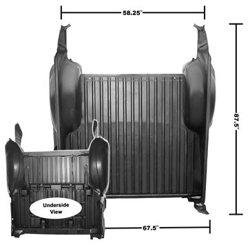 Picture of COMPLETE BED PANEL ASSY 68-72 : 1428M EL CAMINO 68-72