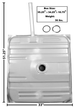 Picture of GAS TANK 73-74 W/NECK : T35A EL CAMINO 73-74