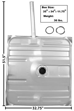 Picture of GAS TANK 75-77 W/NECK : T35B EL CAMINO 75-77